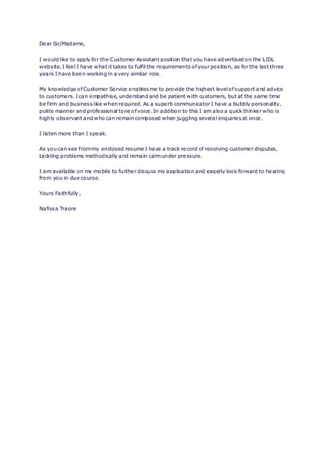 Exle Of A Cover Letter For Assistant Cover Letter Customer Service Assistant 28 Images