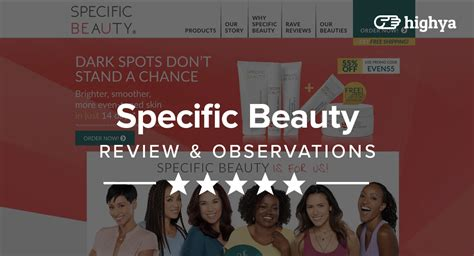 specific beauty reviews    improve skin