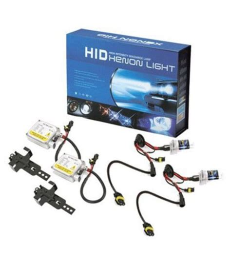 chrome car hid light kit bulbs h4 8000k high intensity