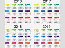 Calendário, 2017, 2018, 2019 PNG e vetor para download