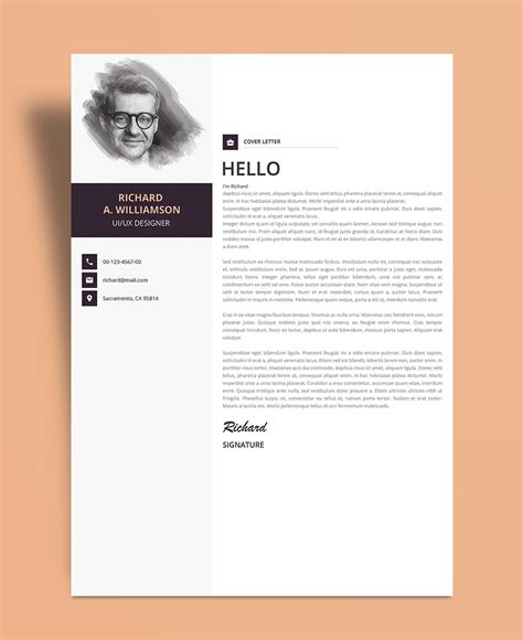 Psd Template Resume And Cover Letter by Creative Professional Resume Cv Design Template With
