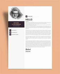 Creative professional resume cv design template with for Free creative cover letter templates