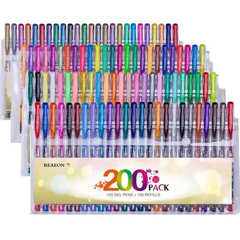 reaeon  colored gel pens set unique colors  ink