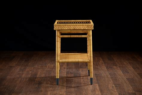 small wicker side table layla small rattan side table mecox gardens