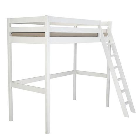lit superpose 1 place lit mezzanine 1 place blanc en pin massif 90x200cm alpin mezzanines lits superpos 233 s lits