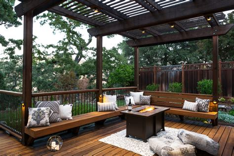 Patio Deck by Deck And Patio Combination Creates Ideal Backyard