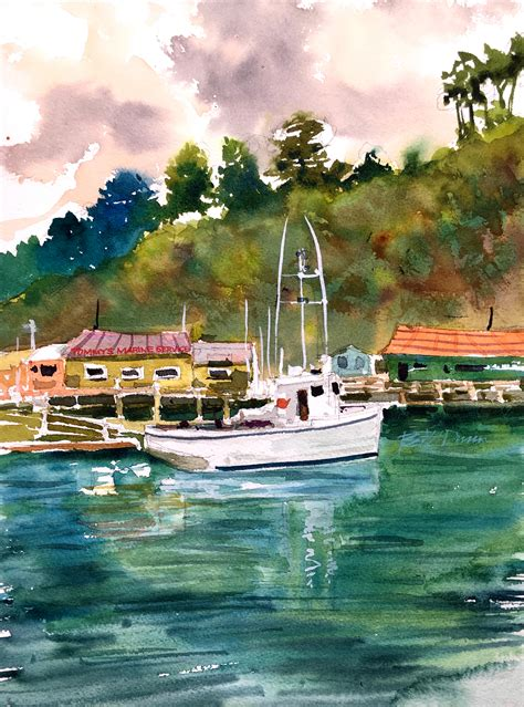 "It's a little embarrassing to admit this, but i used to really struggle. Come ""Sailboat"" Away In This Watercolor Sailboat Tutorial"