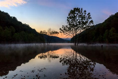 sunrise  cave run lake shutterbug