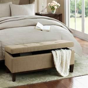 Lit A Coffre : bout de lit coffre un meuble de rangement astucieux ~ Teatrodelosmanantiales.com Idées de Décoration