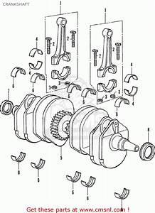 Honda Cb350f Four France Crankshaft