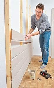 Holz Im Boden Befestigen : wandverkleidung aus holz wandverkleidung ~ Lizthompson.info Haus und Dekorationen