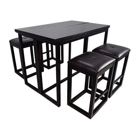 45 counter height extendable dining table with