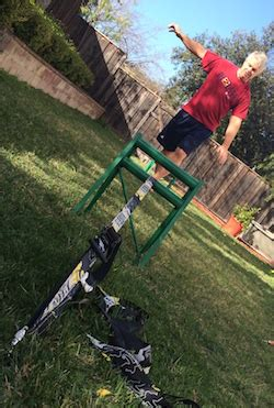 Backyard Slackline Without Trees by How To Set Up A Slackline With No Trees Just Lawn