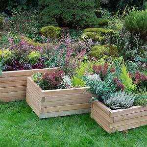 Durham, Wooden, Rectangular, Planter, Set, Of, 3, From, Mr, Fothergill, U0026, 39, S, Seeds, And, Plants