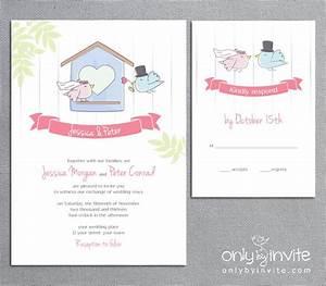 cartoon bride and groom bird wedding invitation rsvp card With wedding invitation animation free