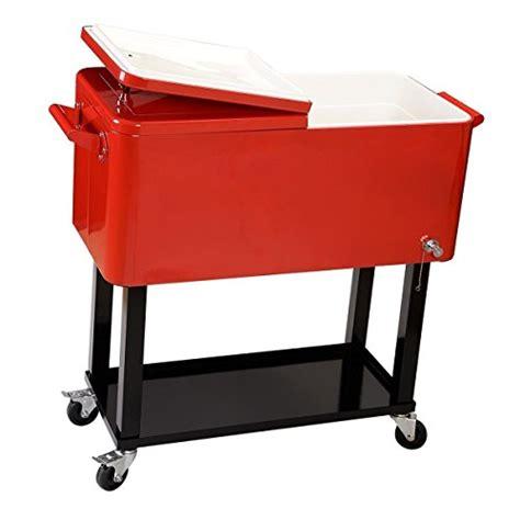 giantex 80 quart cooler cart outdoor entertaining