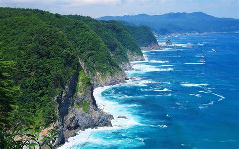 清新蓝色海岸高清风景皮肤壁纸 高清桌面壁纸下载 -找素材网