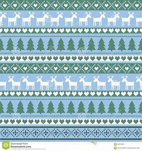 Seamless Christmas Pattern, Card - Scandinavian Sweater ...