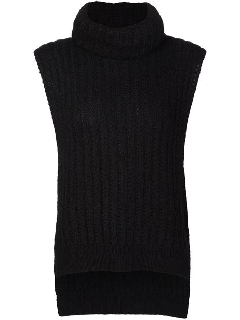 sleeveless turtleneck sweater lyst 3 1 phillip lim sleeveless turtleneck sweater in black