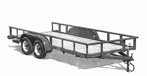 8x16 Low Deck Utility Trailer Plans Flatbed Tandem Axle