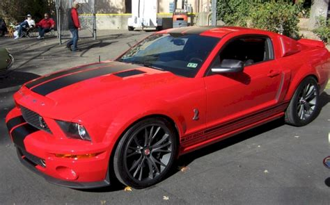 torch red  ford mustang shelby gt  coupe