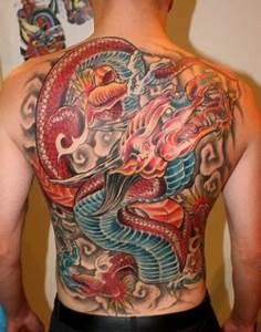 Image Gallery koi back tattoo dragon