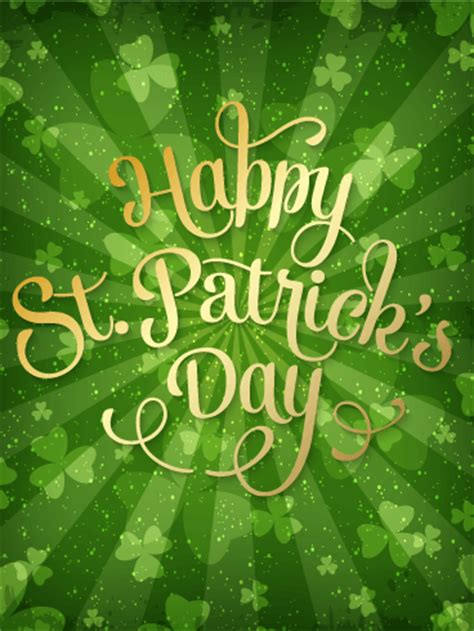delightful st patricks day card birthday greeting