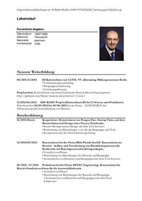 Tabellarischer Lebenslauf Vorlage 2016 by Lebenslauf 2016
