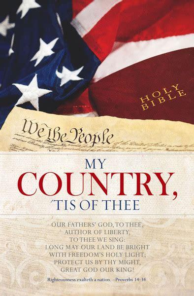 church bulletin  patriotic  country pack