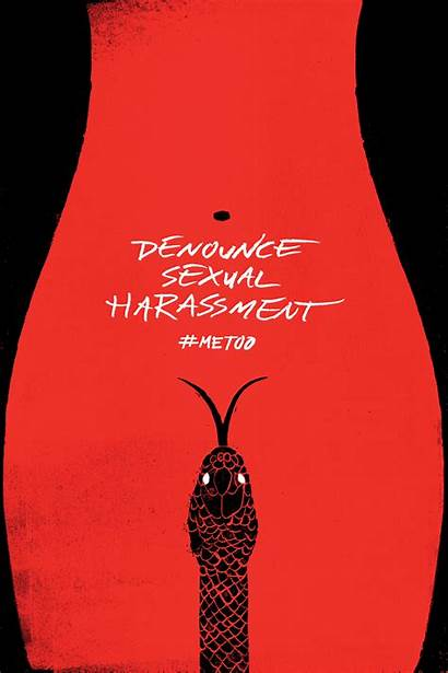 Linocut Poster Metoo Harassment Sexual Behance