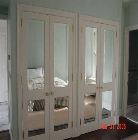 Beveled Mirror Closet Doors by Custom Beveled Mirror Door Inserts Room