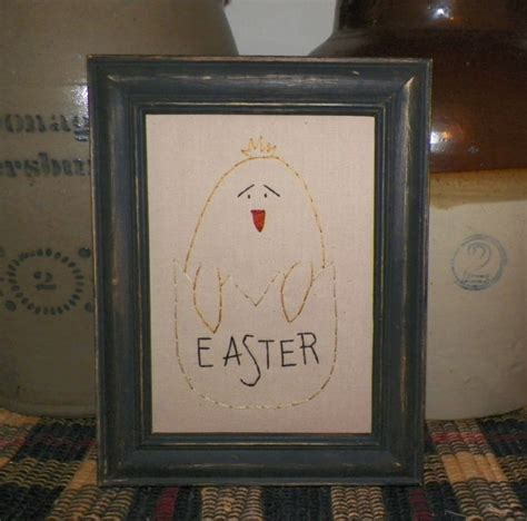 Primitive Easter Home Decor by Unframed Primitive Easter Picture Stitchery Decoration Country