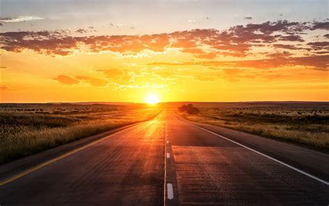 wallpaper sunset highway  world  popular