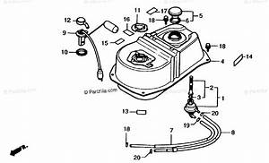 Honda Scooter 1987 Oem Parts Diagram For Fuel Tank