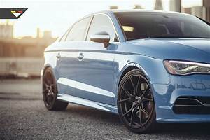 Sky Blue Audi S3 Sedan on Vorsteiner V-FF 103 Wheels in