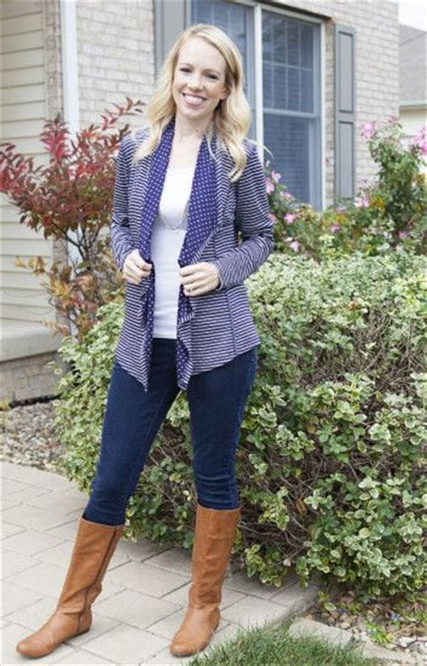open front stripe cardigan stitch fix review by blessed by brenna market spruce