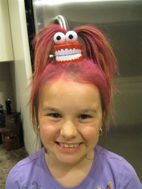 Wacky Hairstyles For by Wacky Hair Day Ideas For