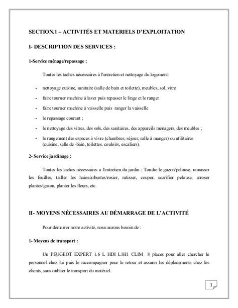 cuisine implantation business plan d 39 une société de service a domicile tunisienne