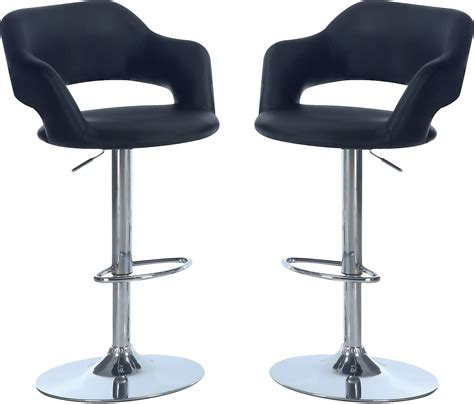 black accent hydraulic bar stool package black the brick