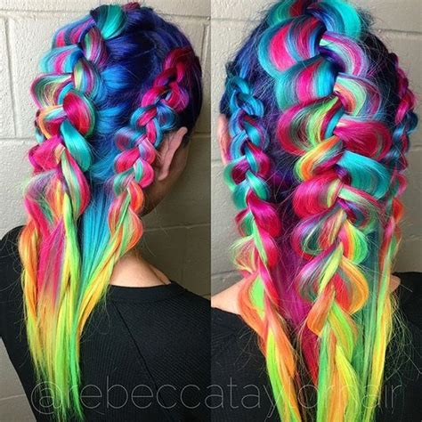 crazy colorful hair colour ideas for long hair 4 color