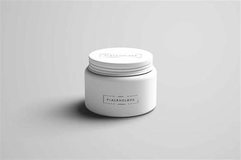 On the top of the jar cap you can use either plastic cap or paper cap and place design. Download This Free Cosmetic Jar Mockup in PSD - Designhooks