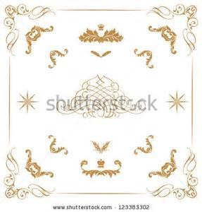 Decorative Gold Swirls Borders
