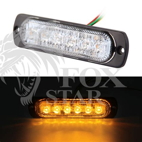 high quality 6 led car emergency beacon light bar 3w