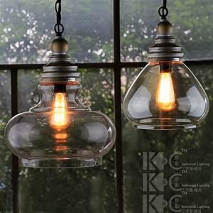 Kc single head lamps glass chandelier wooden