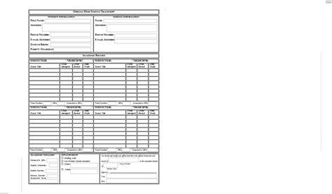 homeschool transcript template help for homeschool transcripts