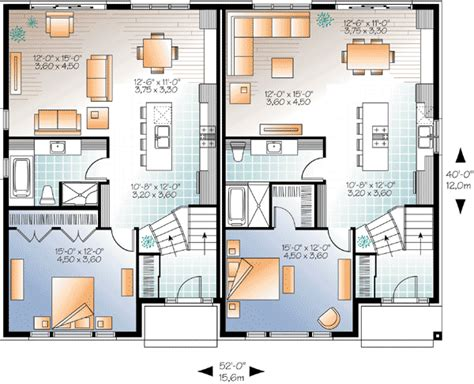 multi level house floor plans sleek modern multi family house plan 22330dr