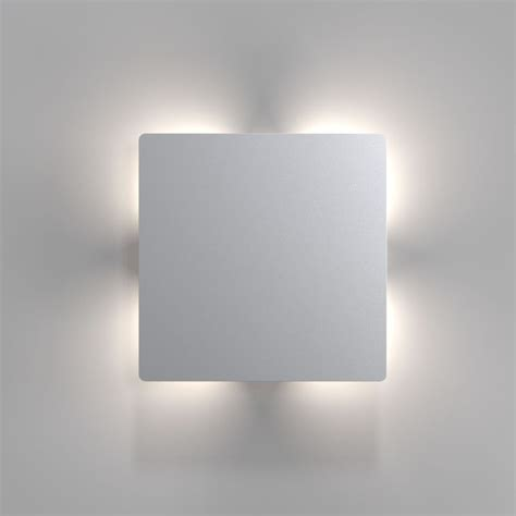 nordlux quadro disc led wall light stainless steel