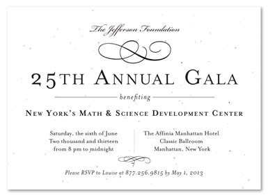Formal Gala Invitations on seeded paper ~ Very VIP by