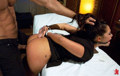 Sex and Submission - Asian massage babe forced to fuck by horny client in rough bondage sex and ...