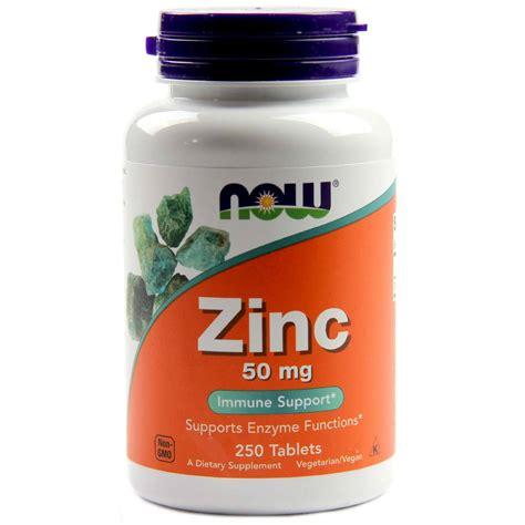 cuisine zinc now foods zinc gluconate 50 mg 250 tablets evitamins